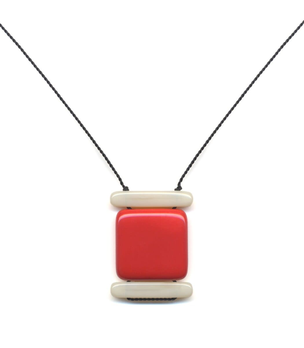 Irk Jewelry I. Ronni Kappos N1887 Red Layer Necklace