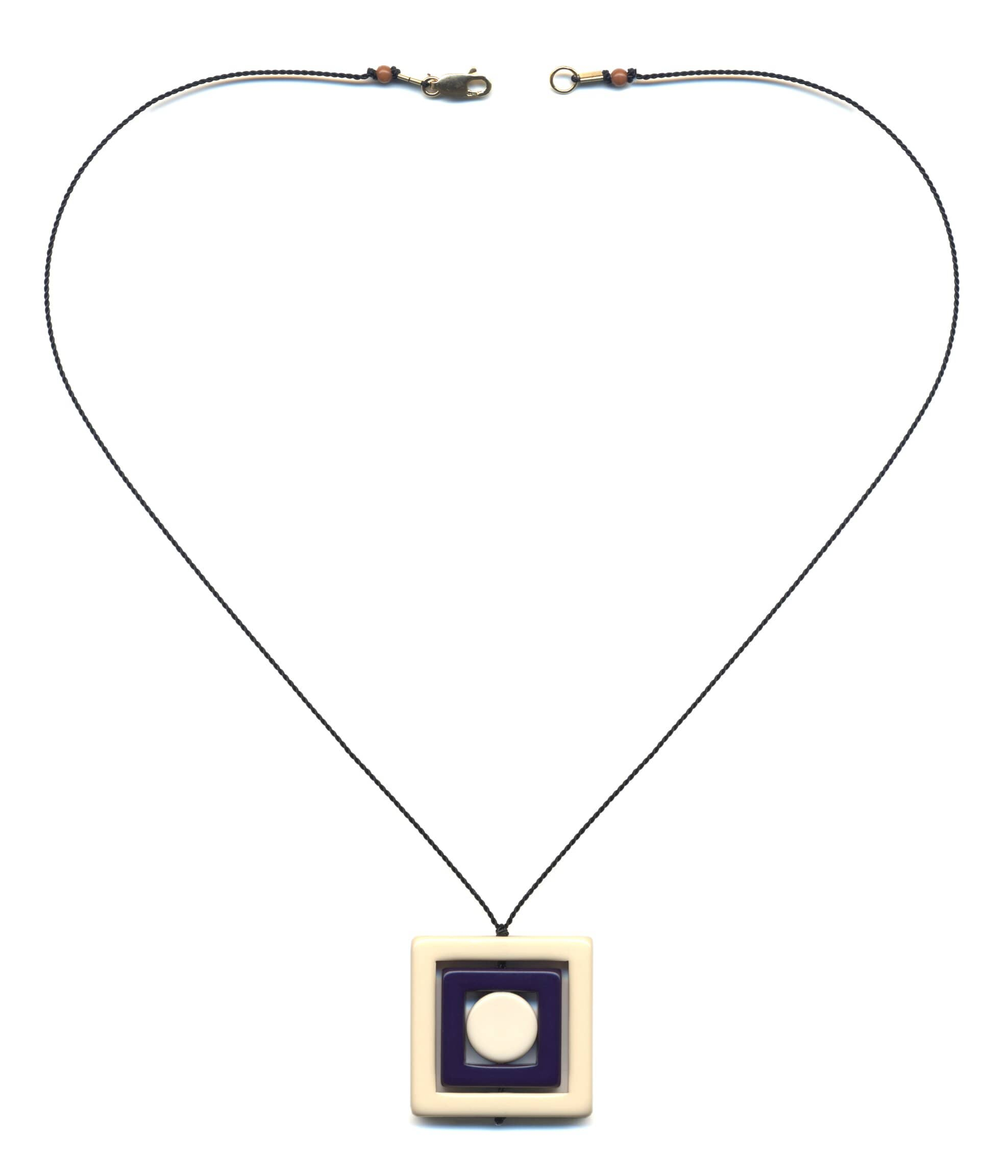 N1888 White Square Necklace