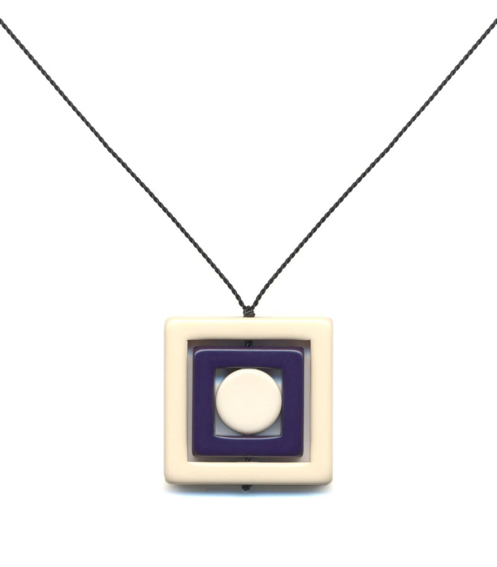 Irk Jewelry I. Ronni Kappos N1888 White Square Necklace