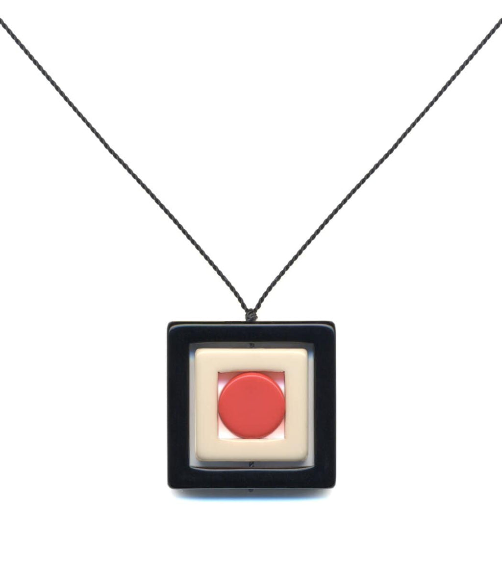 Irk Jewelry I. Ronni Kappos N1889 Black Square Necklace