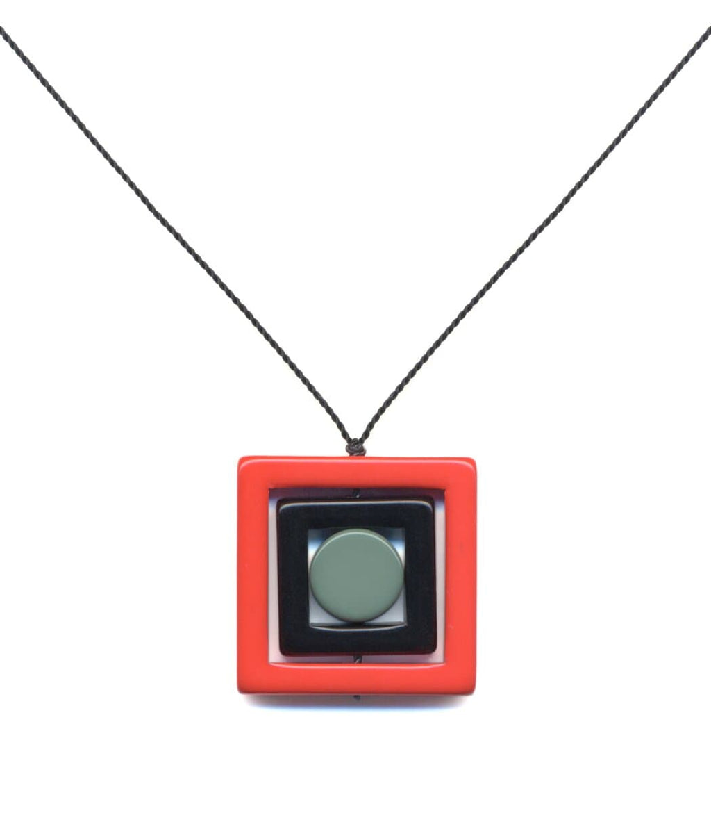 Irk Jewelry I. Ronni Kappos N1890 Red Square Necklace
