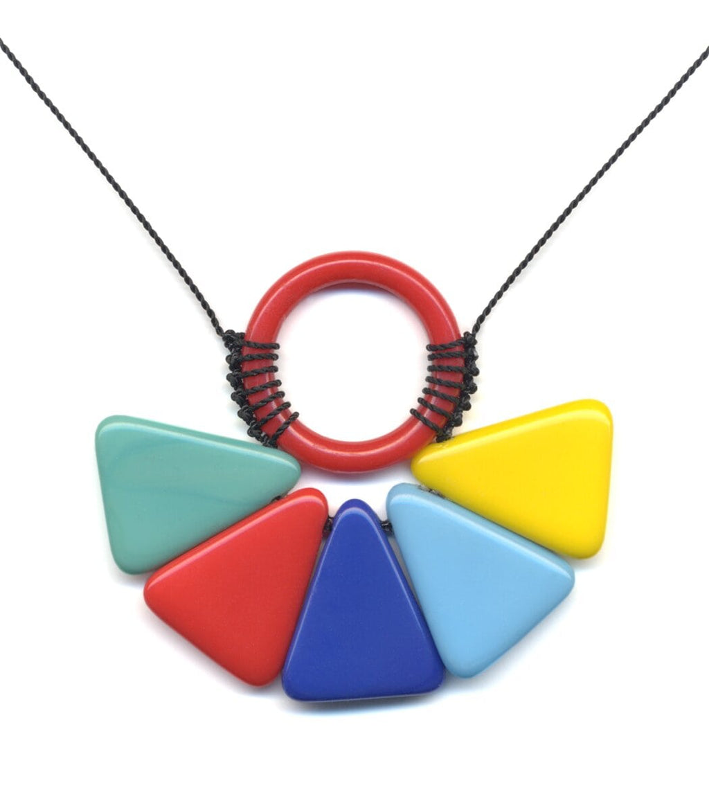 Irk Jewelry I. Ronni Kappos N1893 Color Wheel Necklace