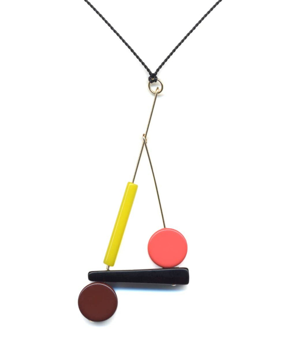 Irk Jewelry I. Ronni Kappos N1899 Kinetic Pendant Necklace