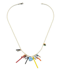 N1904 Heart Fringe Necklace
