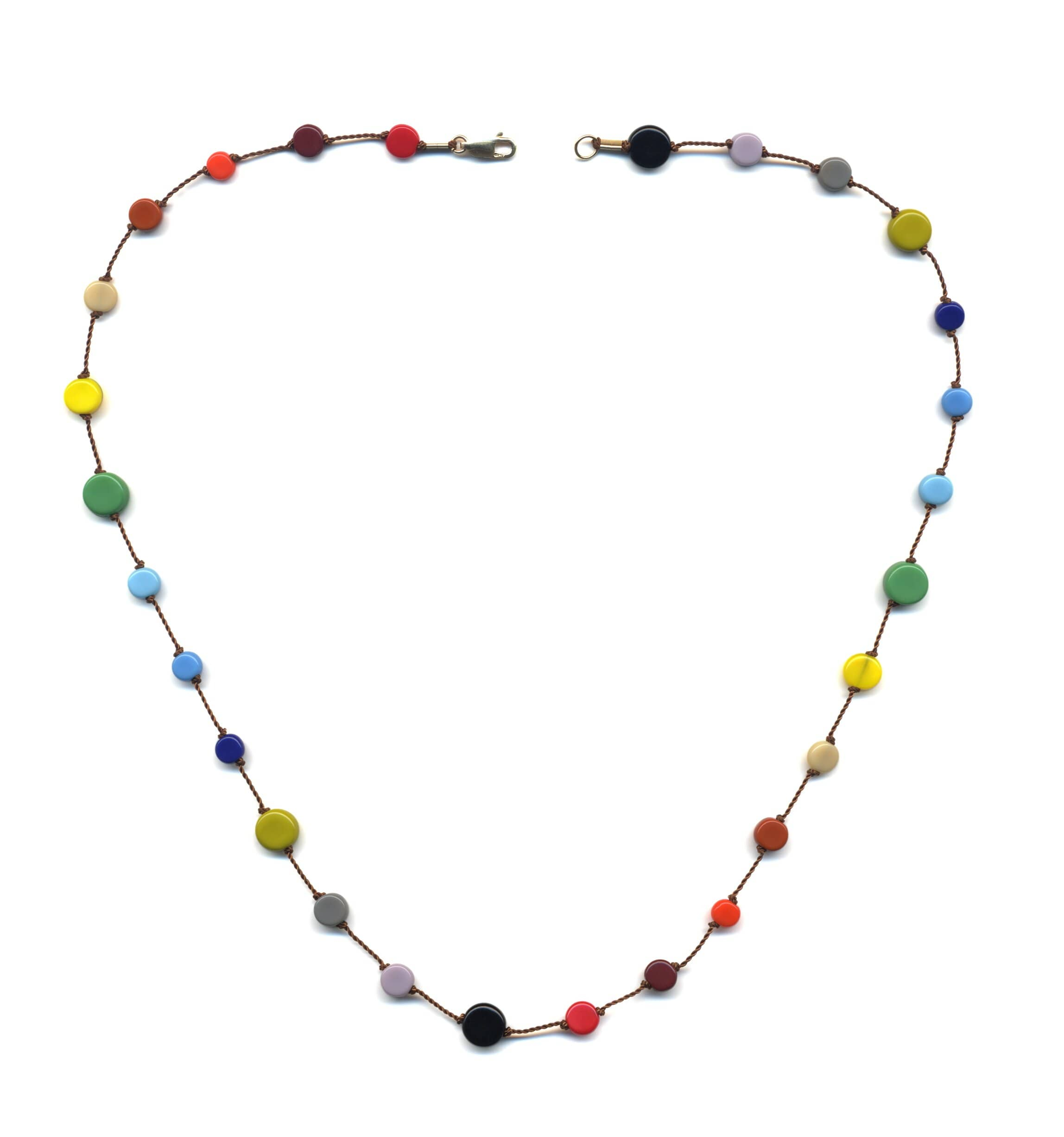 N1908 Multi Circles Necklace