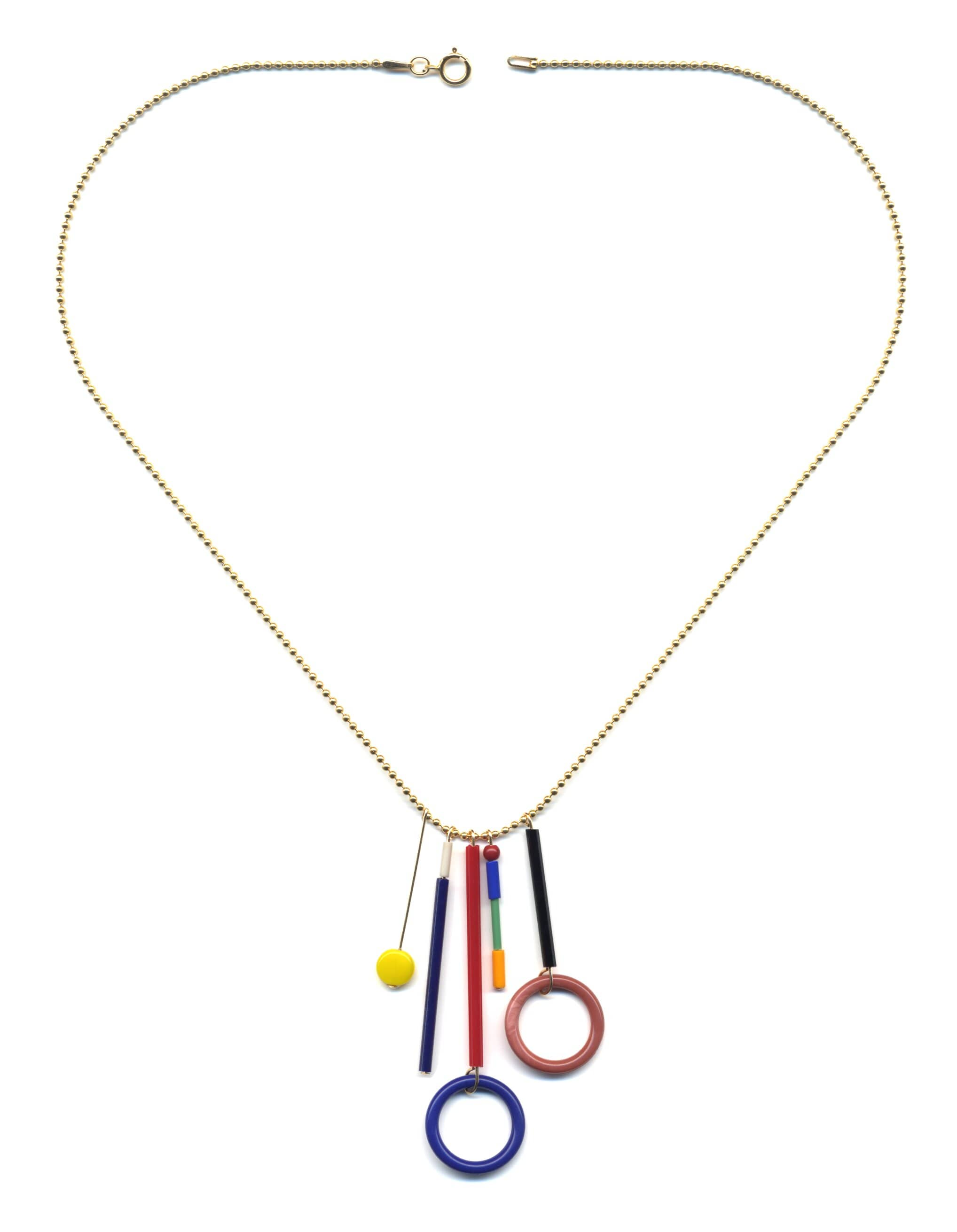 N1909 Loop Fringe Necklace