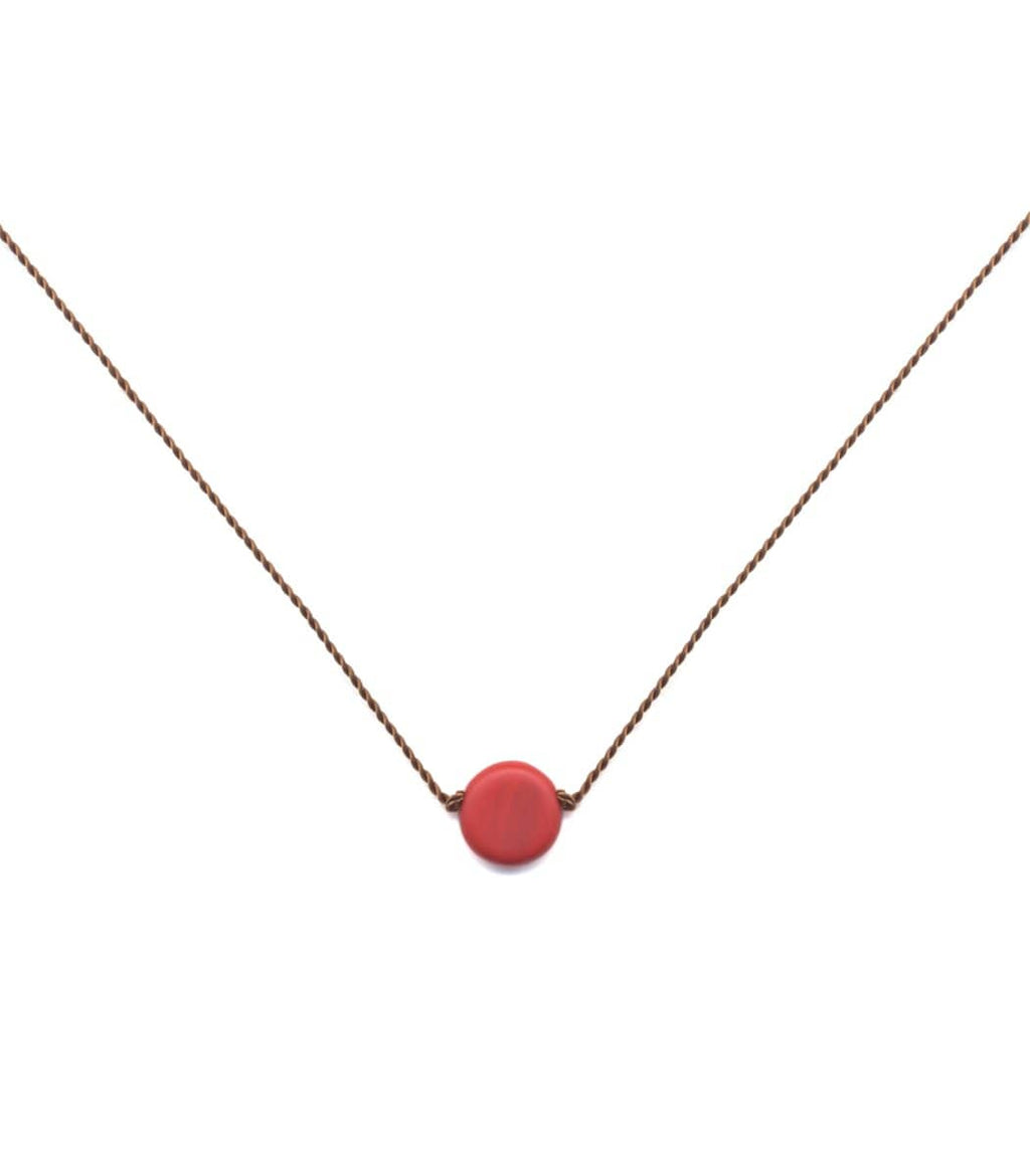Irk Jewelry I. Ronni Kappos N1913 Red Dot Necklace