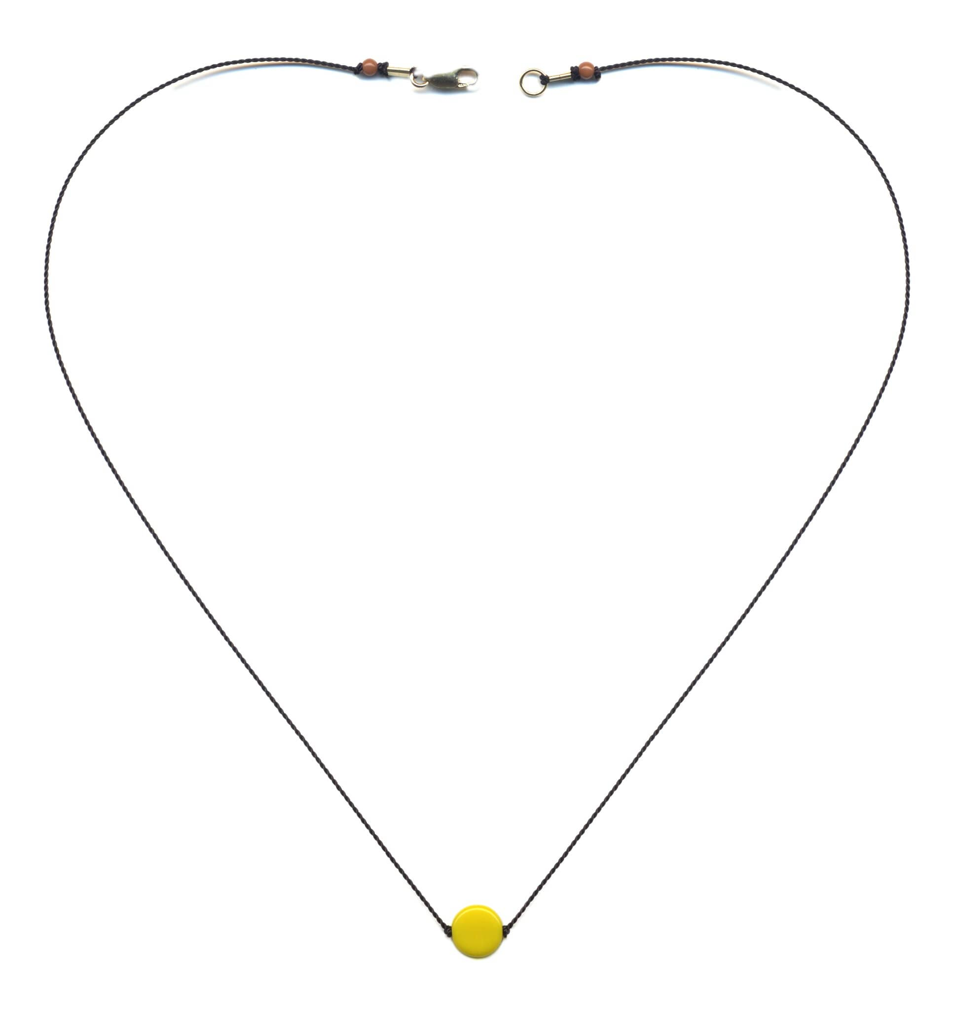 N1914 Yellow Dot Necklace