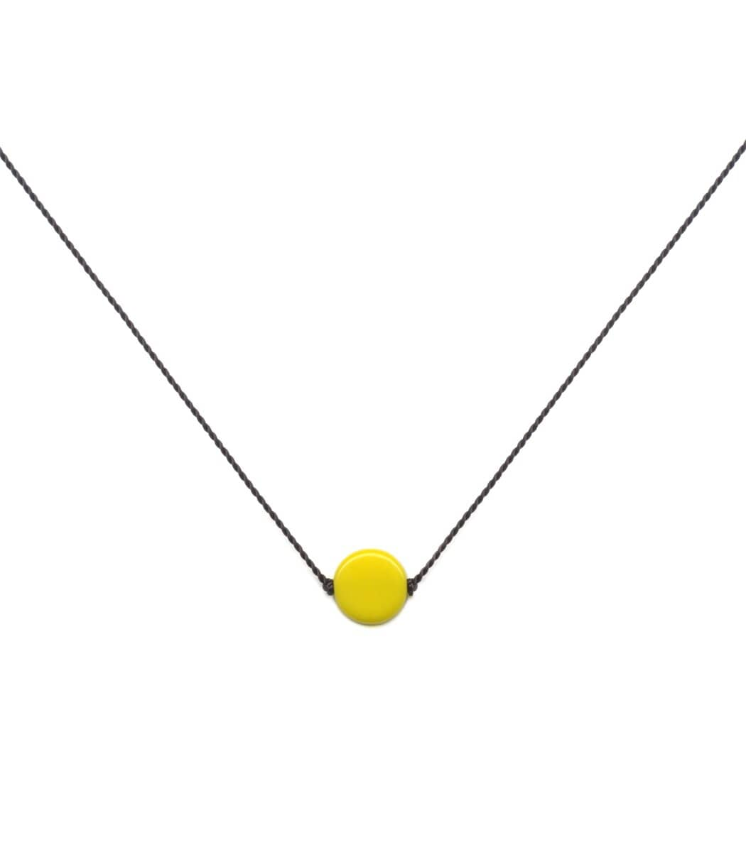 Irk Jewelry I. Ronni Kappos N1914 Yellow Dot Necklace