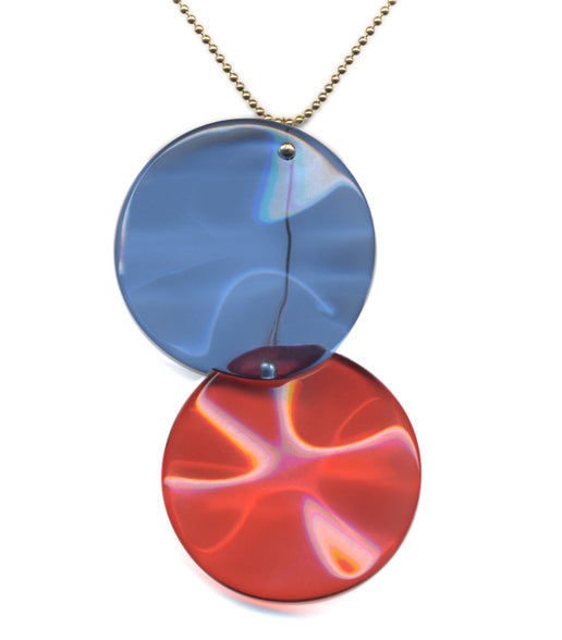 Irk Jewelry I. Ronni Kappos N1919 Overlap Pendant Necklace