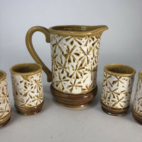 "Vintage Inarco Ceramic Drink Set  Pitcher is 7"" tall for reference"