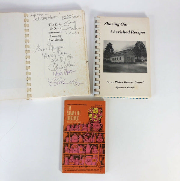 Lot Of 3 Vintage Cookbooks - One Signed By Paula Deen