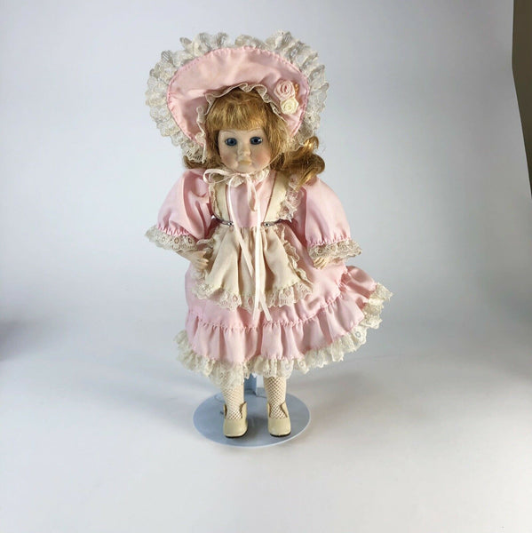 "Seymour Mann Connoisseur Collection Porcelain Doll 14"" Pouting"