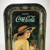 "Coca Cola Vintage Beverage Tray 1972 Reproduction of 1916 ""Elaine"" Summer Roses"