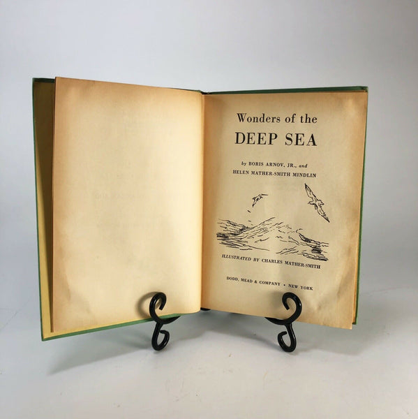 Vintage Wonders Of The Deep Sea Ocean Zoo Arnov 1959 Hardcover Illustrated