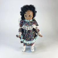 "Vintage porcelain kitschy cute big eyed doll  14"" tall"