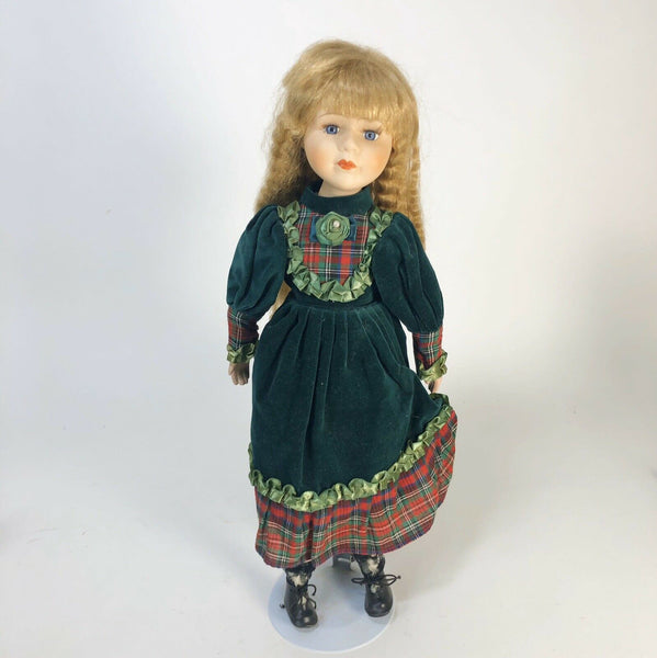 "Vintage Bisque Porcelain Doll 17"" Tall"