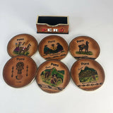 Peruvian Leather Coaster Set