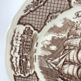 "Vintage ""The Friendship of Salem"" transferware collector plate"