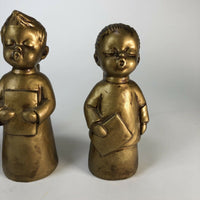 Vintage Dickson - set of three - Singing Choir Angels - Gold tone -Made in Japan