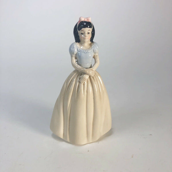 Porcelain Princess Figurine Pink And Blue With Black Hair 5.5""