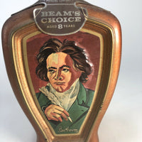 "Vintage Jim Beam's Choice Beethoven Weiss Art, 10"" X 5"""