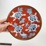 Vintage Japanese China hand painted rose dish
