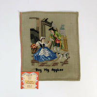 Vintage Luxury needlepoint project Buy My Apples
