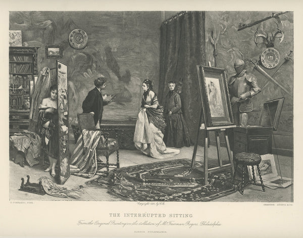 "1881 ""The Interrupted Sitting"" Reprint"