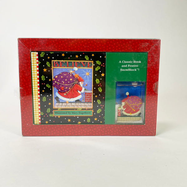"Mary Engelbreit ""Believe"" Book & Festive SnowBlock"