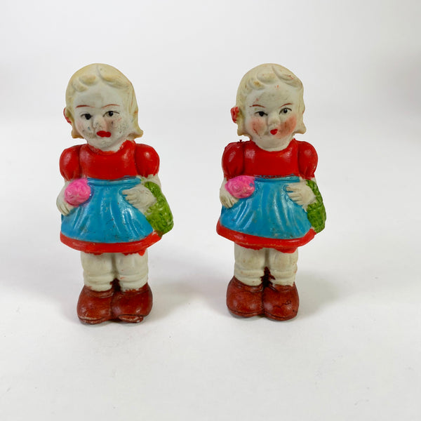 Vintage Bisque Frozen Charlotte Twin Dolls