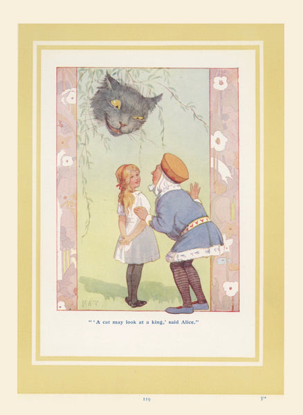 1920 Alice In Wonderland by Margaret Tarrant reprint