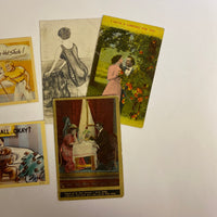 Lot of 5 Antique and Vintage Lover Postcards