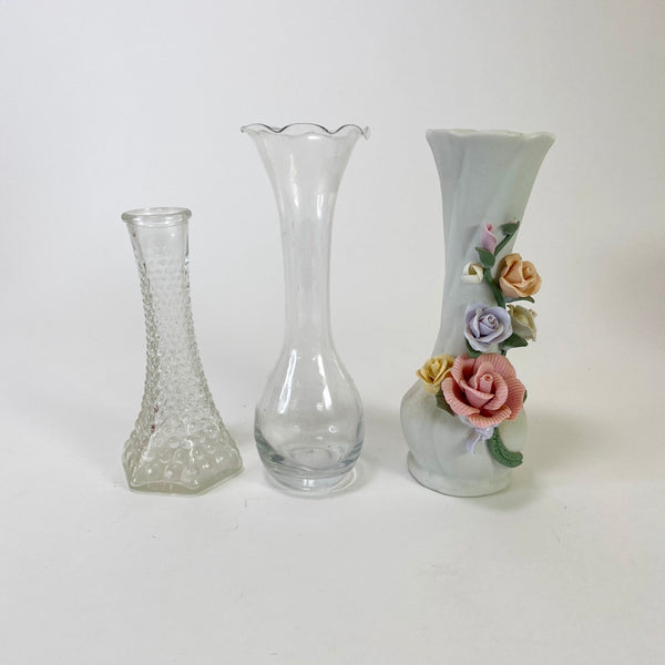 Lot of 3 Vintage Bud Vases