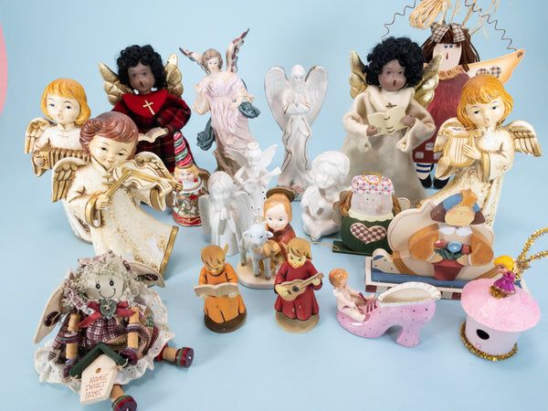 20 PIECE - Vintage And Modern Angels Wholesale Collector Box