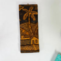 Vintage Tropical Wood Carving Wall Decor