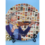 Vintage Norman Rockwell FIFTY YEARS OF CANNED BEERS Metal Tin Collector's Plate