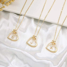 Load image into Gallery viewer, Gold Initial Necklaces for Teen Girls, CZ Heart Pendant Initial K Necklaces for Teen Girls Women, Dainty Letter Necklace for Women Girls Jewelry Cute Heart Necklace Jewelry for Girls Gifts for Her
