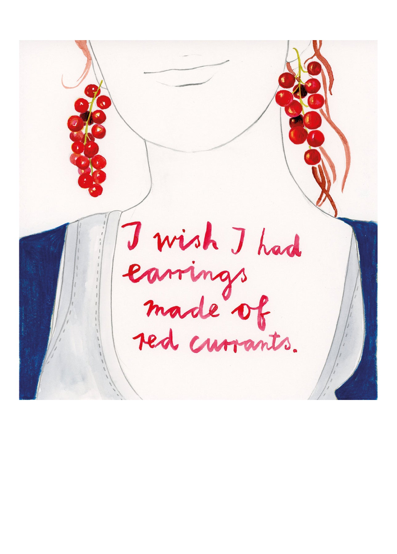 I wish I had earrings made of red currants