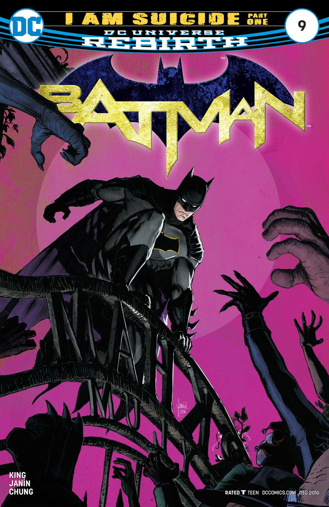Batman #9 Vol 3.0 DC Universe Rebirth (2016)