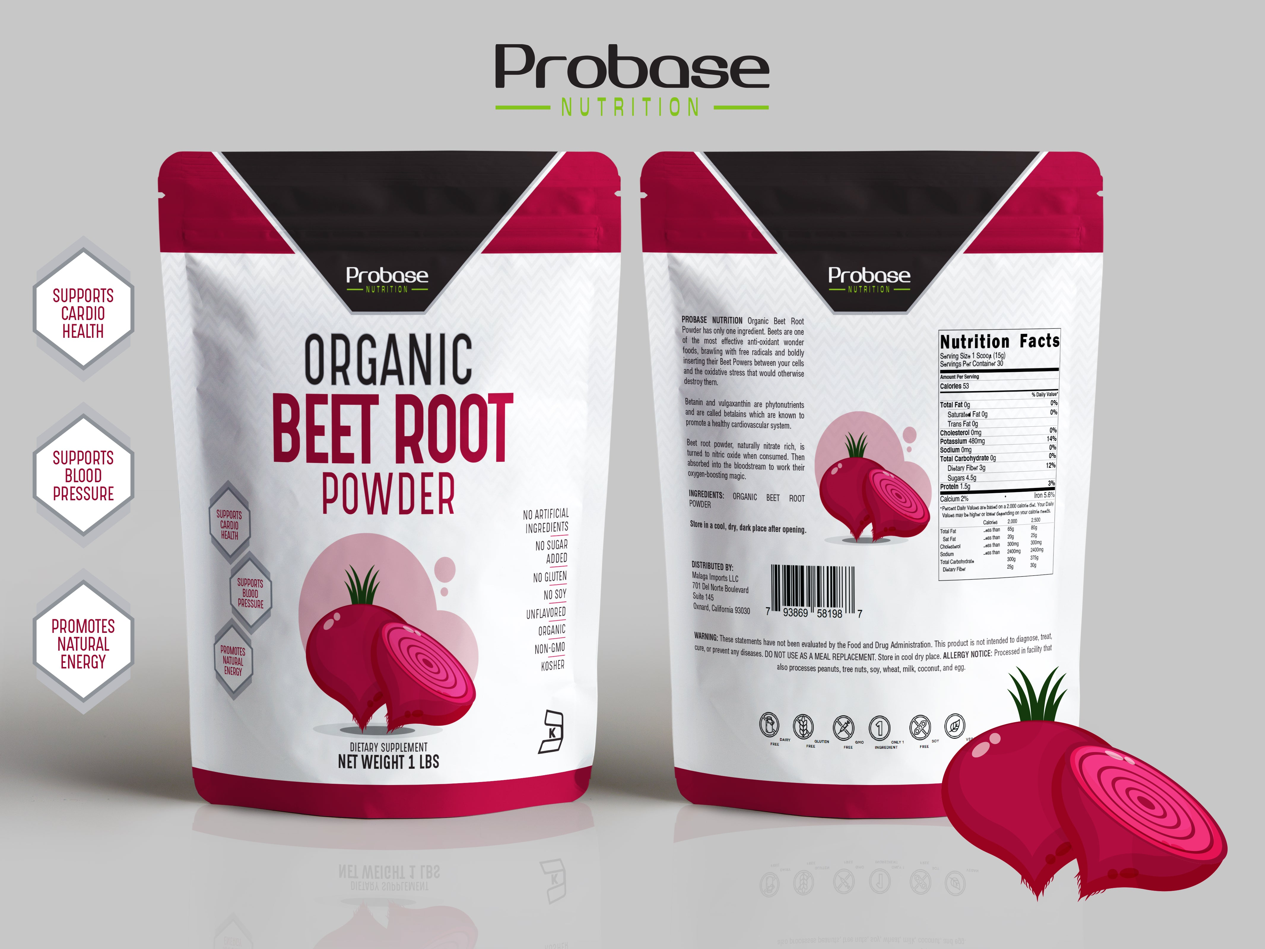 Organic Beet Root Powder (1 Pound)