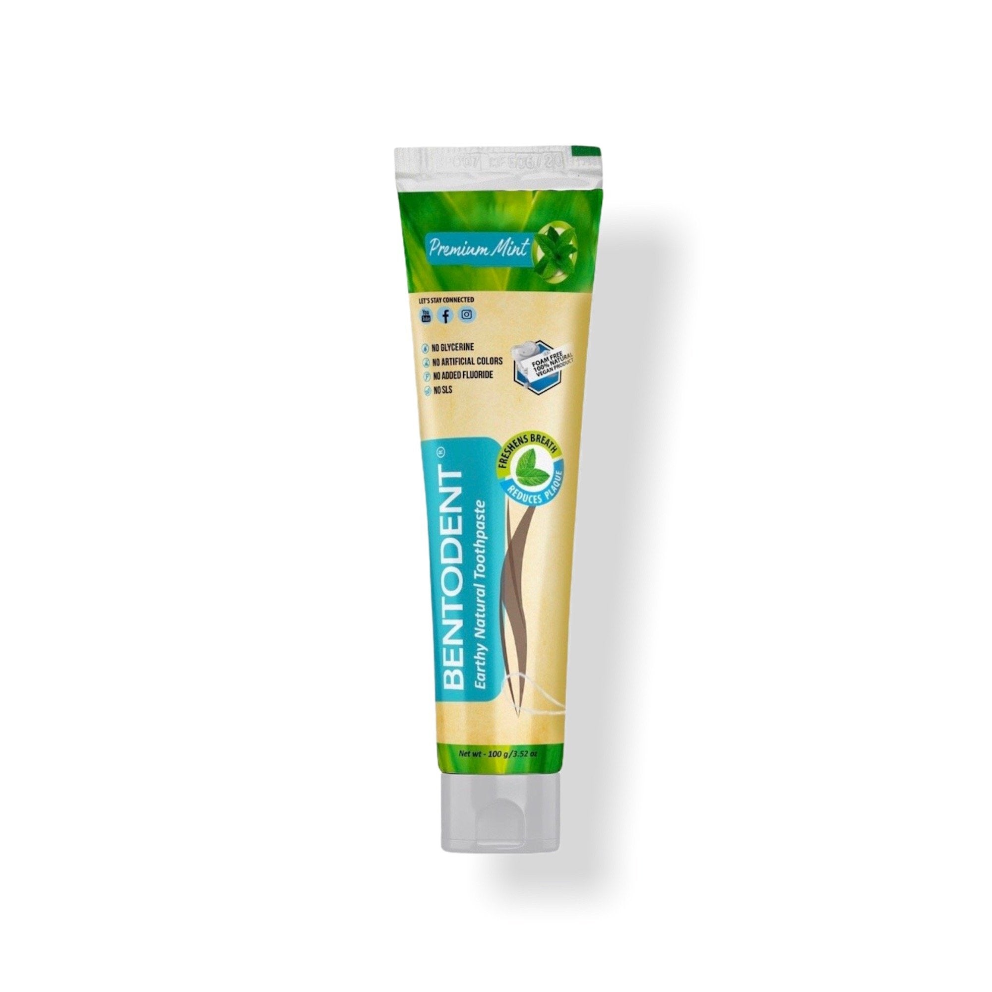 Bentodent Natural Toothpaste Premium Mint