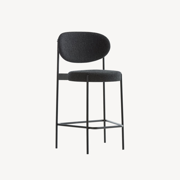 Series 430 Bar Stool - SH 65 cm, Sort Stel