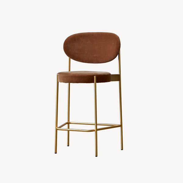 Series 430 Bar Stool - Brass finish frame