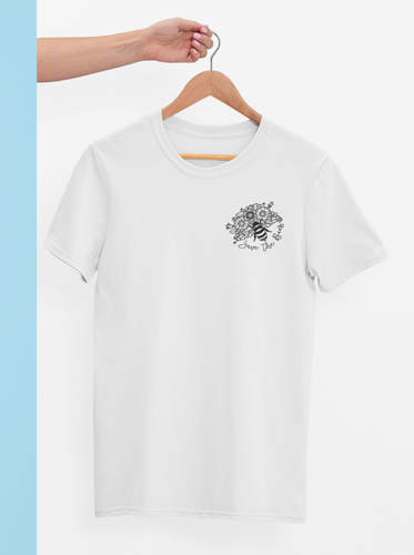 White save the bees shirt