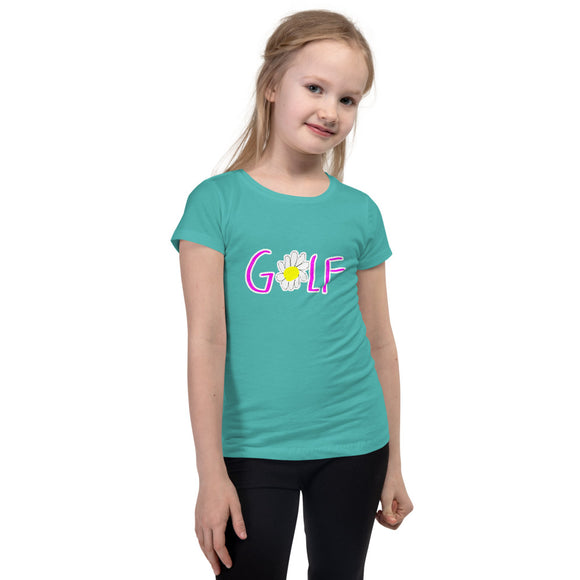 Flower Golf Girl's Slim & Fitted T-Shirt