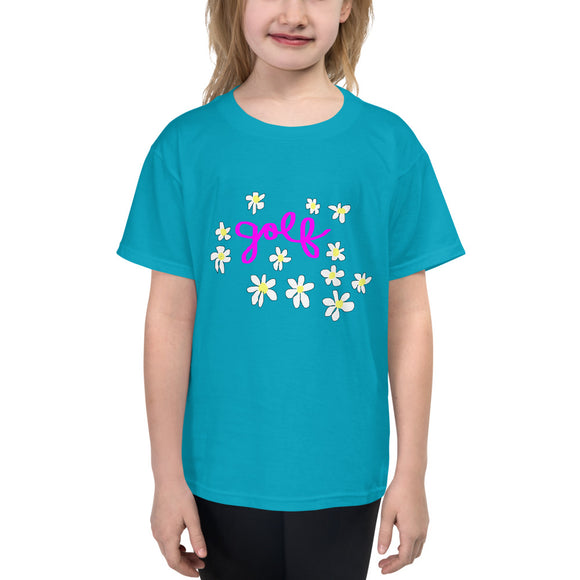 Golf Daisies Youth Short Sleeve T-Shirt