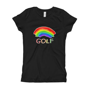 Rainbow Golf Girl's Slim-Fitted T-Shirt