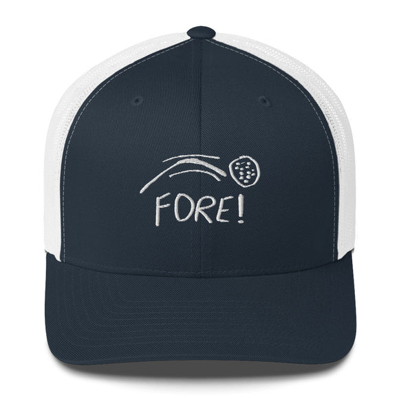FORE! Trucker Cap Golf Hat