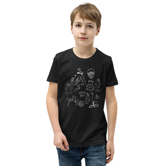 Golf Doodles Youth Short Sleeve T-Shirt